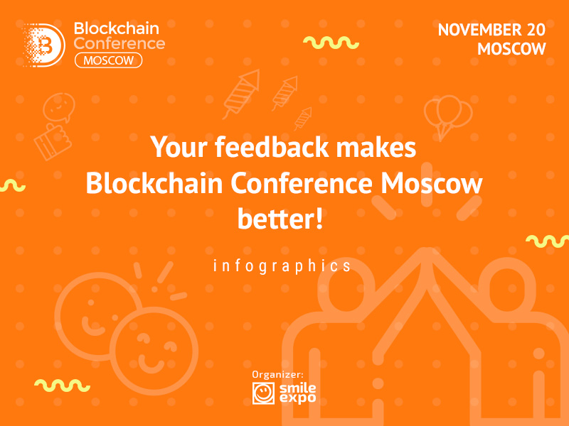 Your feedback makes Blockchain Conference Moscow better! Infographics
