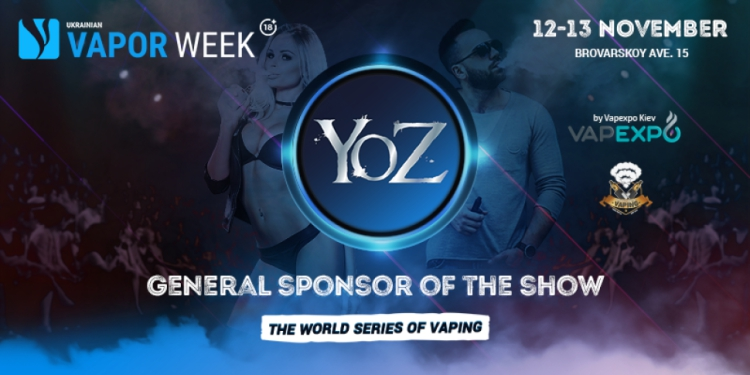 YOZ became general show sponsor of Ukrainian Vape Week!