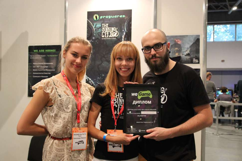 Yuri Shevaha and Sergey Ten presented The Sinking City game at WEGAME 2.0