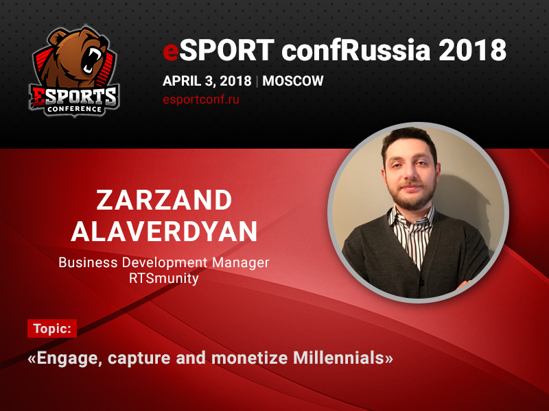 Zarzand Alaverdyan will dedicate his presentation to millennials and potential of eSports bets at the specialized conference 2018