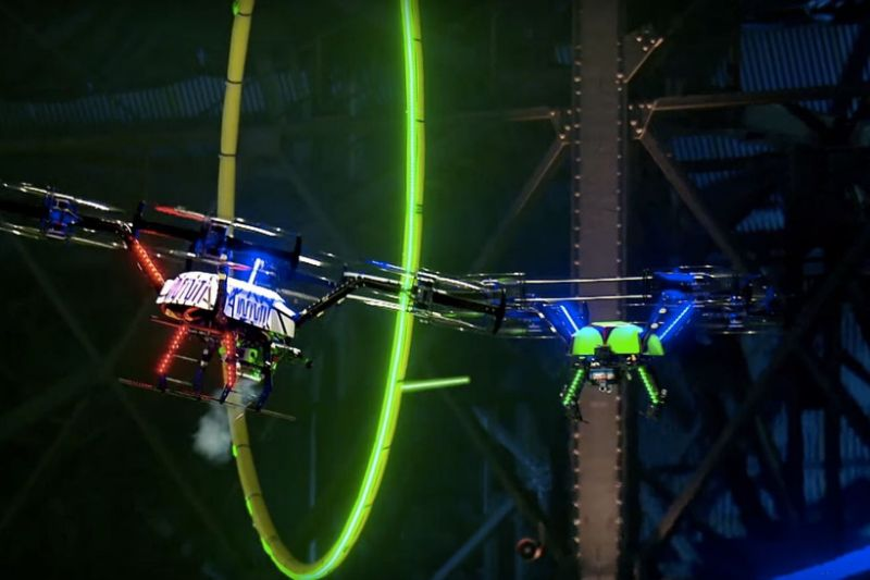 The competition of show drones
