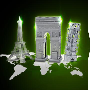 3D - печатные статуи мира