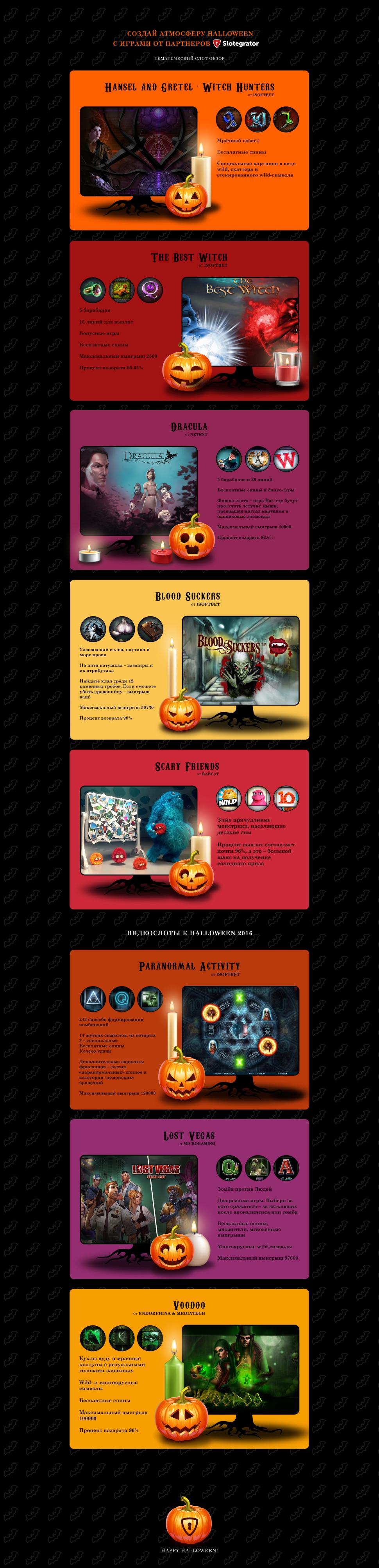 Слот-игры к Хэллоуину от партнеров Slotegrator