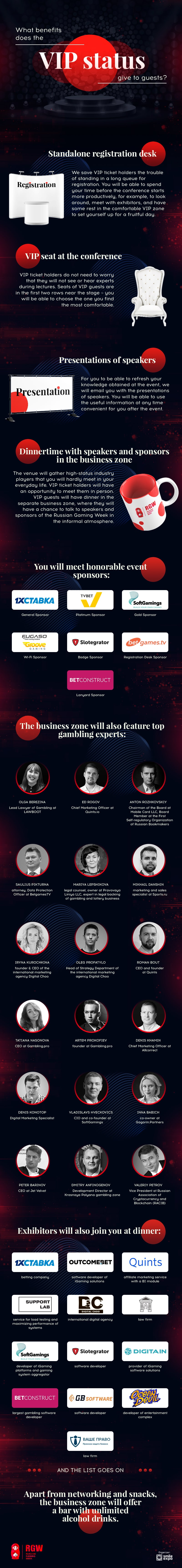 RGW: Benefits that a VIP ticket gives to attendees of Russian Gaming Week (infographics) 1