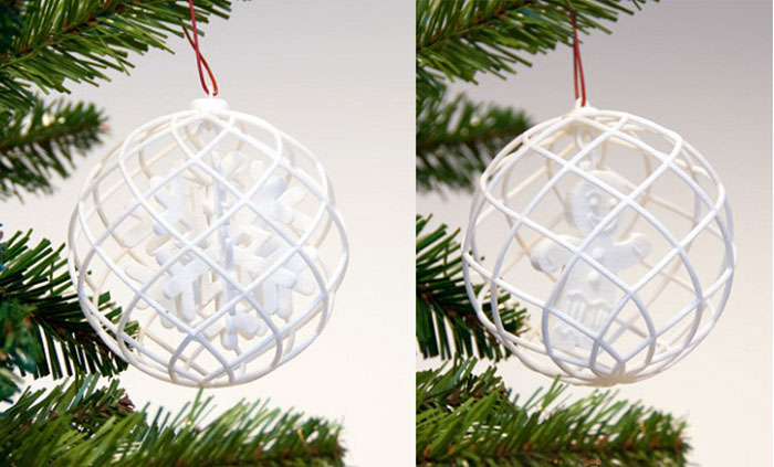 3DPI's 2013 Gallery of 3D Printed Christmas Ornaments 1