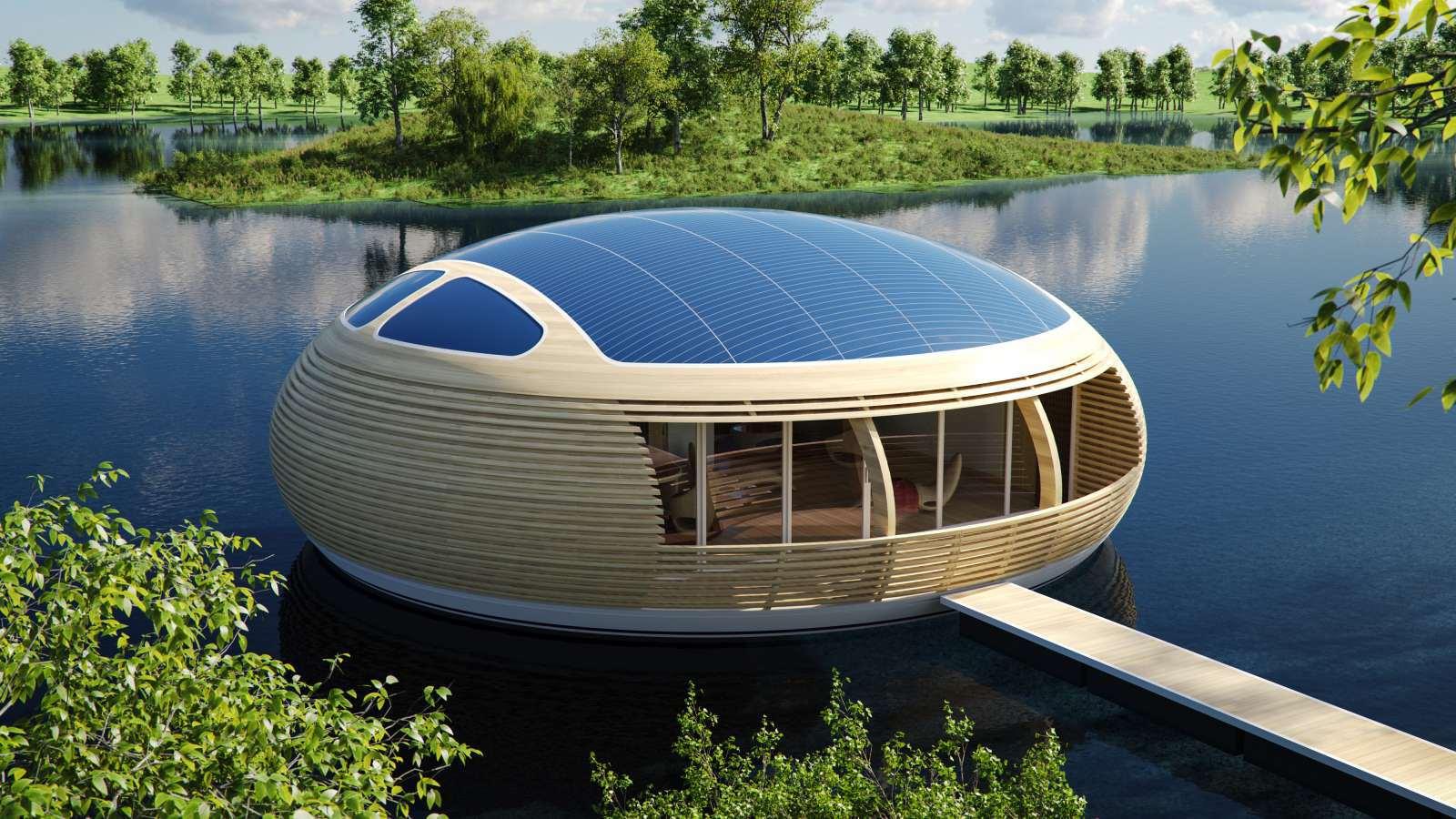 Дом на воде Waternest 100 от компании EcoFloLife