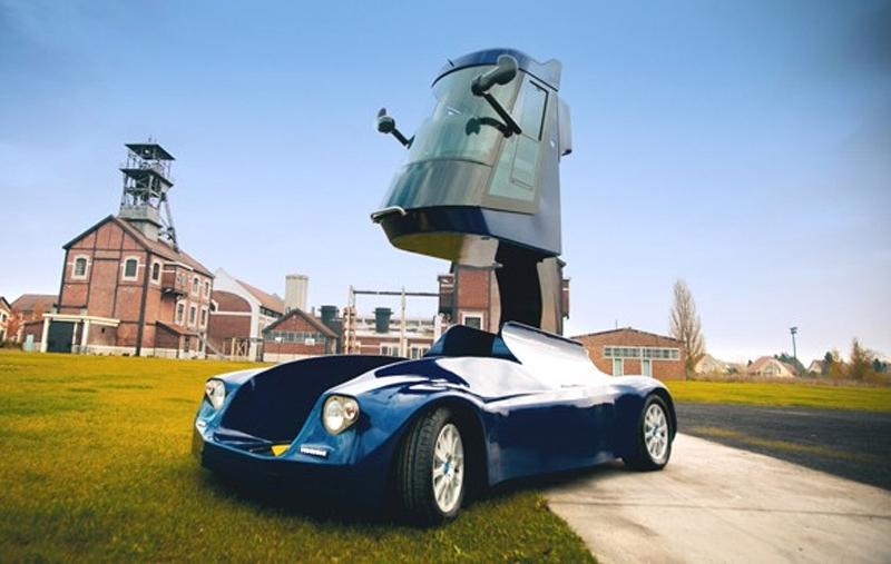 электромобиль - очень необычное транспортное средство под названием Iris.