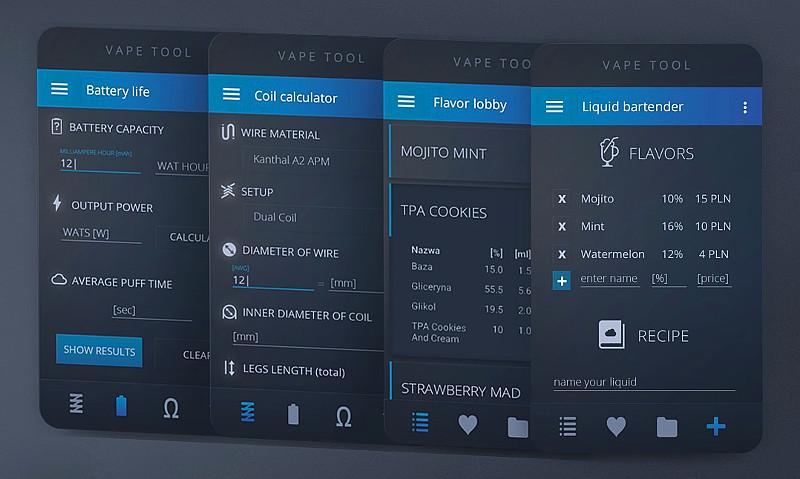 Андроид-приложение для вейпинга